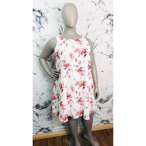 Suzy Shier Floral Midi Dress Women Plus Size 1X